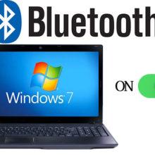 Как включить блютуз на ноутбуке с ОС Windows 7