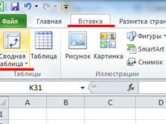 Как сделать сводную таблицу в Excel