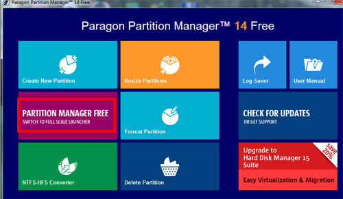 Установка paragon partition manager
