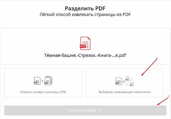 Интерфейс онлайн-сервиса SmallPDF во время обработки