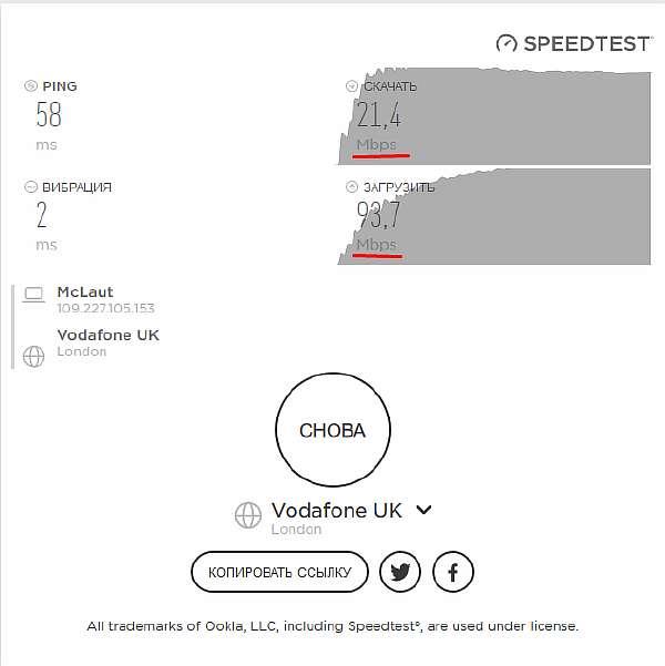 Результаты проверки в Speedio