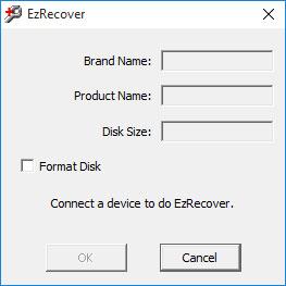 Главное окно программы EzRecover