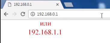 Ввод IP адреса