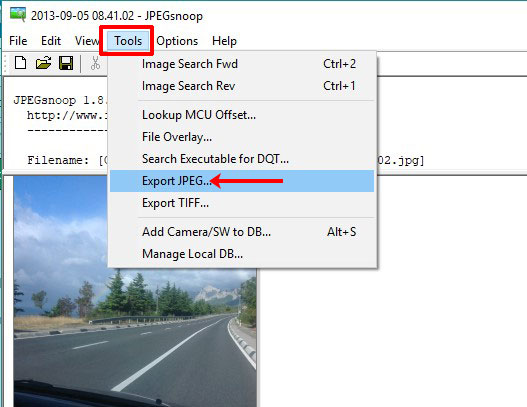 Экспорт JPEG картинки