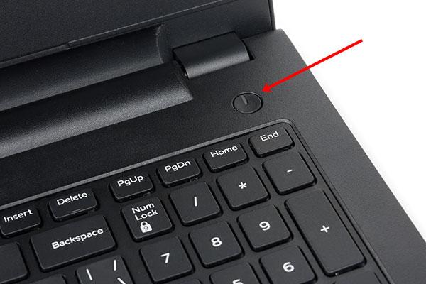 Кнопка питания ноутбука