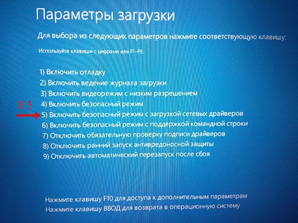 Список параметров