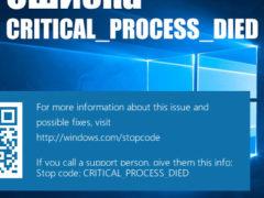 Как исправить ошибку CRITICAL PROCESS DIED Windows 10