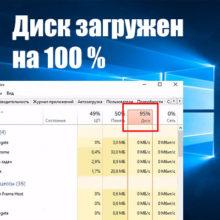 Загрузка диска 100 процентов в Windows 10: решение проблемы