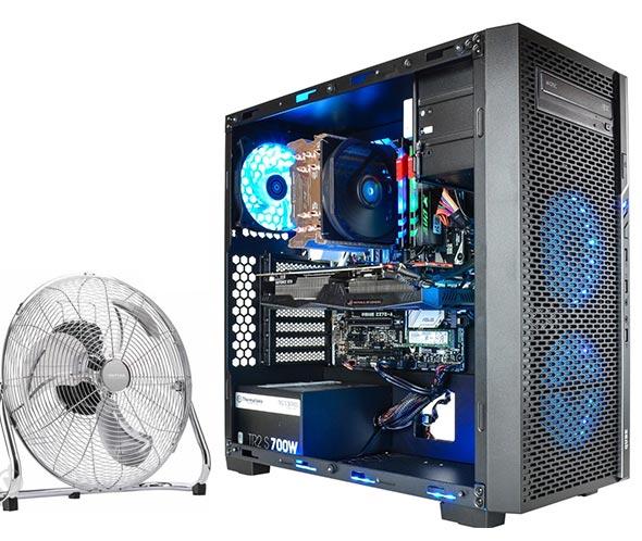 Охлаждение компьютера обычным вентилятором