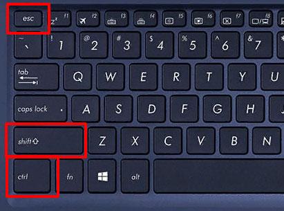 Открытие Диспетчера задач комбинацией клавиш