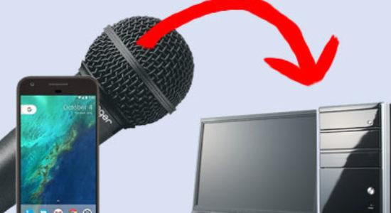 Как использовать телефон как микрофон для компьютера