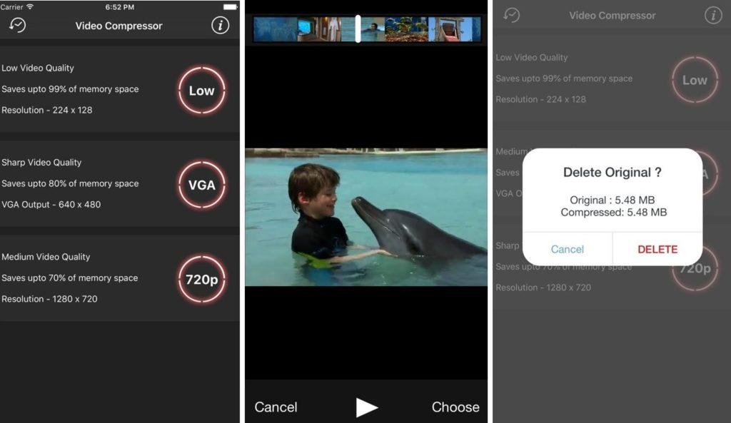 Как сжать видео на Айфоне