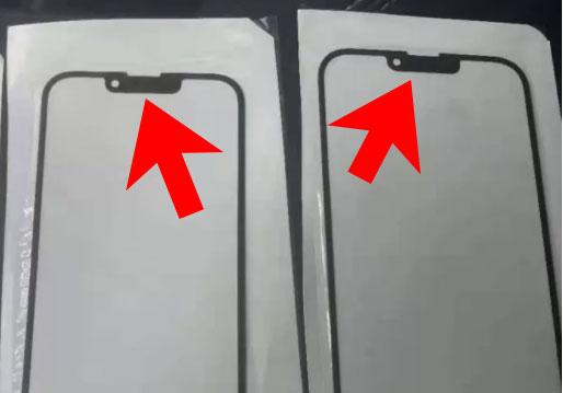 Динамик и фронтальная камера в iPhone 13