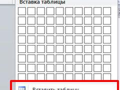 Как добавить таблицу в Ворде: несколько способов