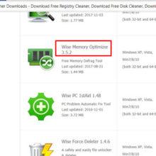 Бесплатная программа Wise Memory Optimizer