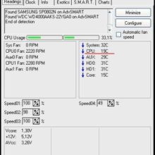 SpeedFan 4.42 — программа для измерения температуры процессора