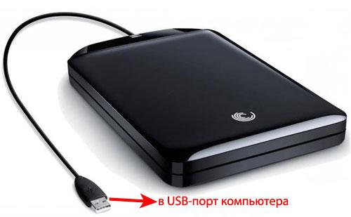 Как подключить внешний жесткий диск через USB